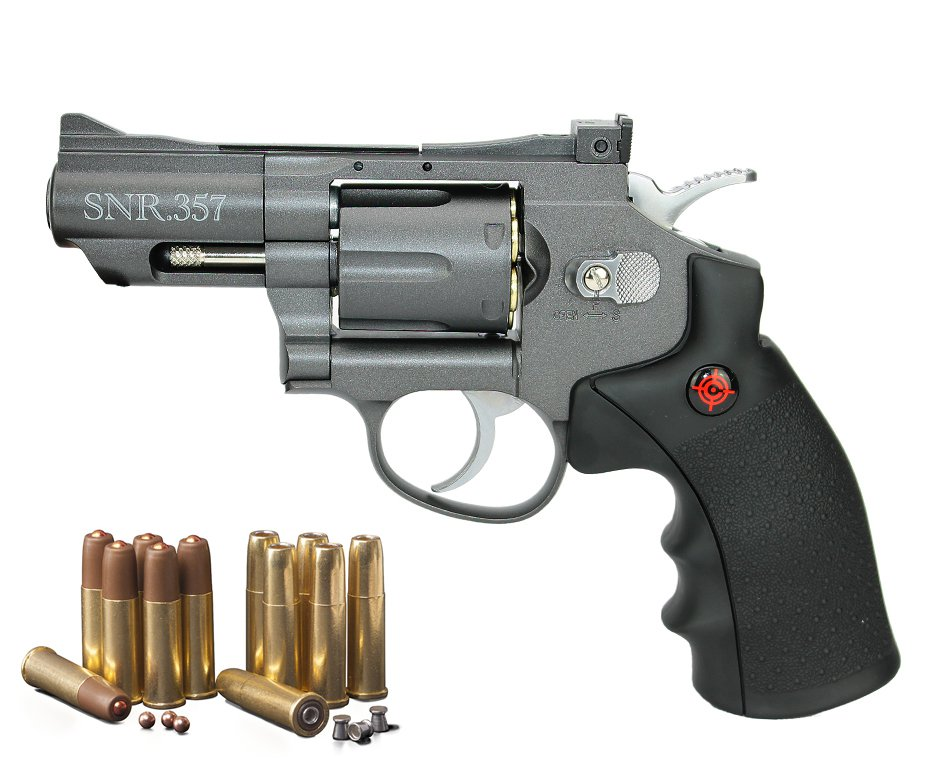 "Revolver Co2 Full Metal 2"" Cano Snr357 Cal 4,5mm Crosman"
