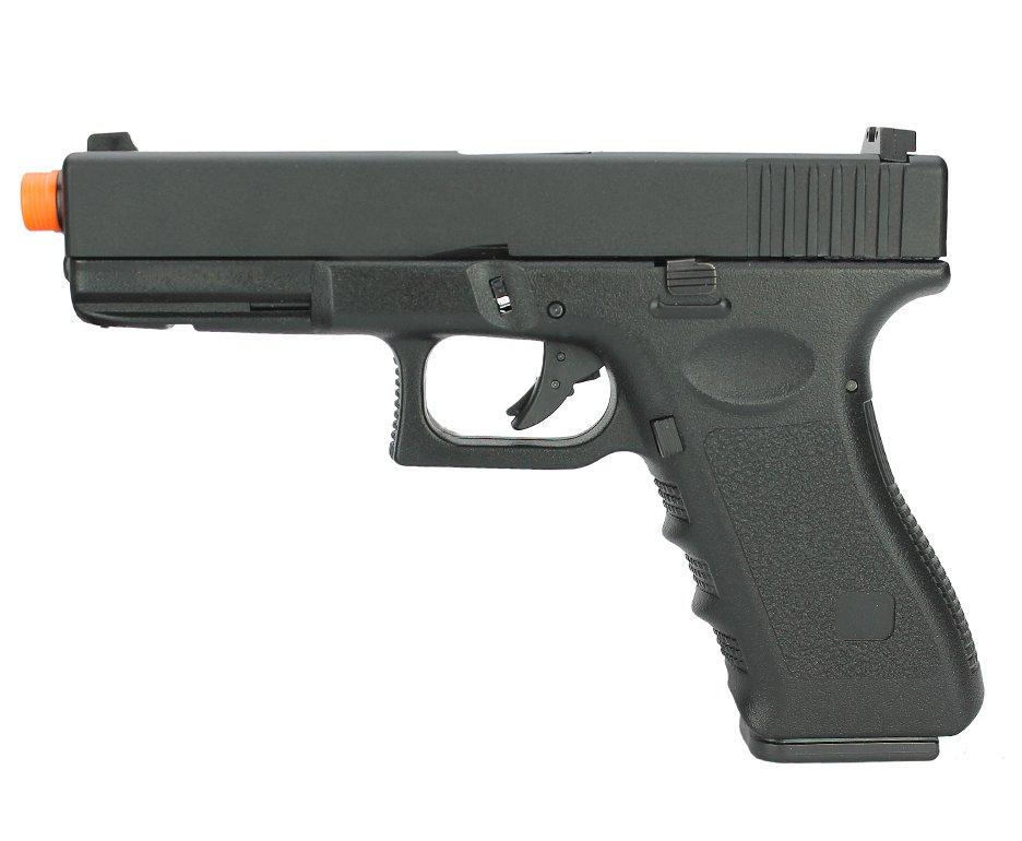 Pistola De Airsoft Gas Gbb G18 Blowback Com Slide Metal 6mm + Case - Hfc