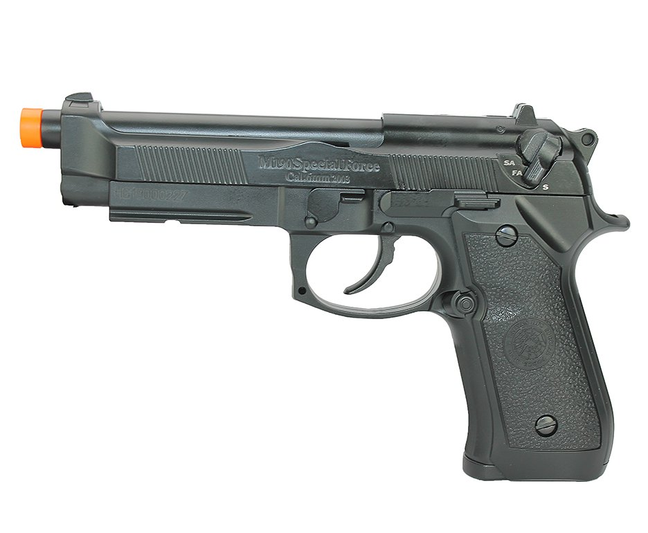 Pistola De Airsoft Gas Gbb Pt92 Slide Metal Blowback 6mm Hg-190 Hfc + Case