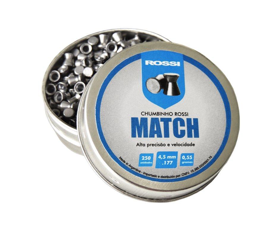 Chumbinho Match 250und Cal 4,5mm - Rossi