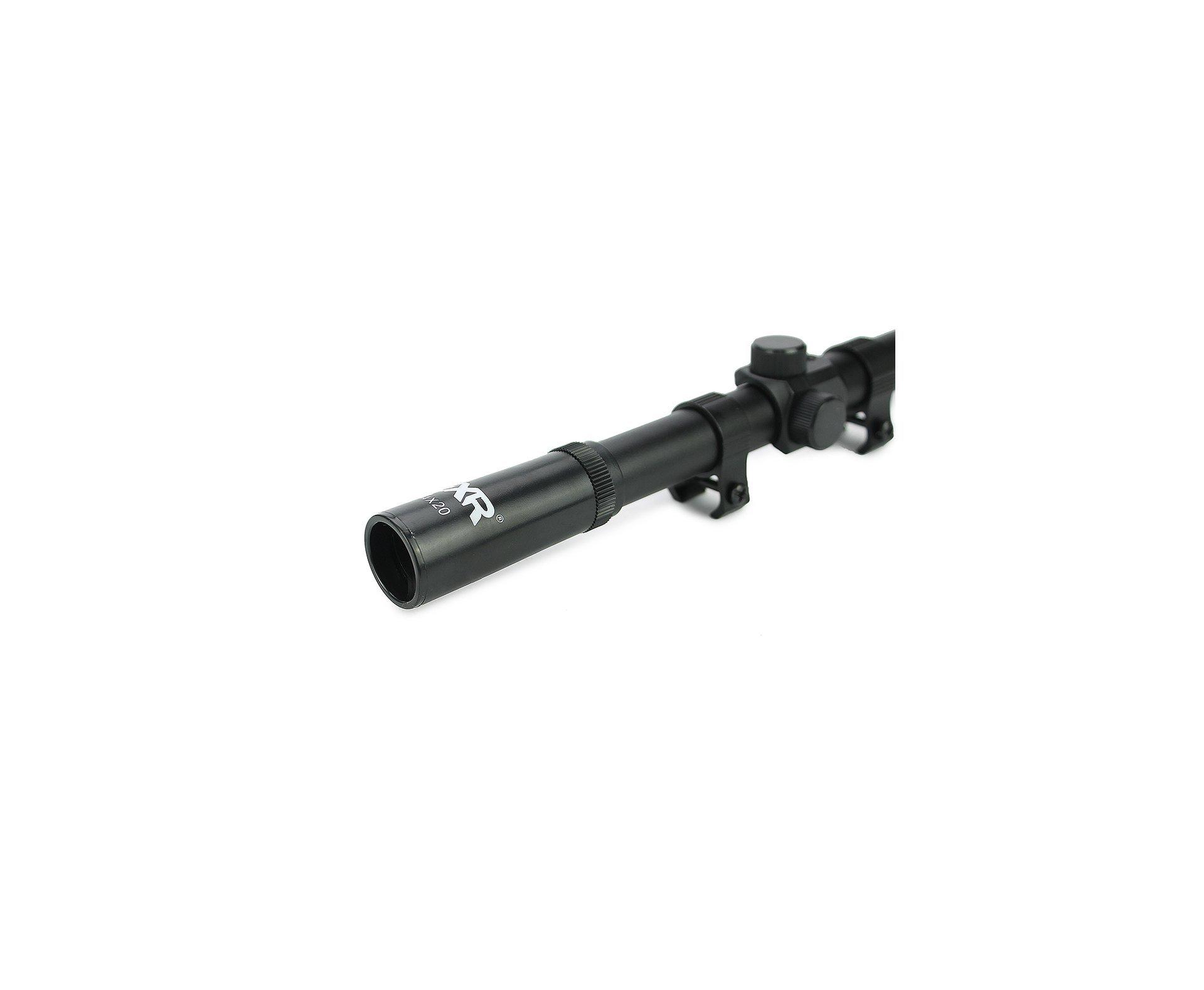 Luneta 4x20 Com Suporte Mount Para Trilhos 11mm - Fxr