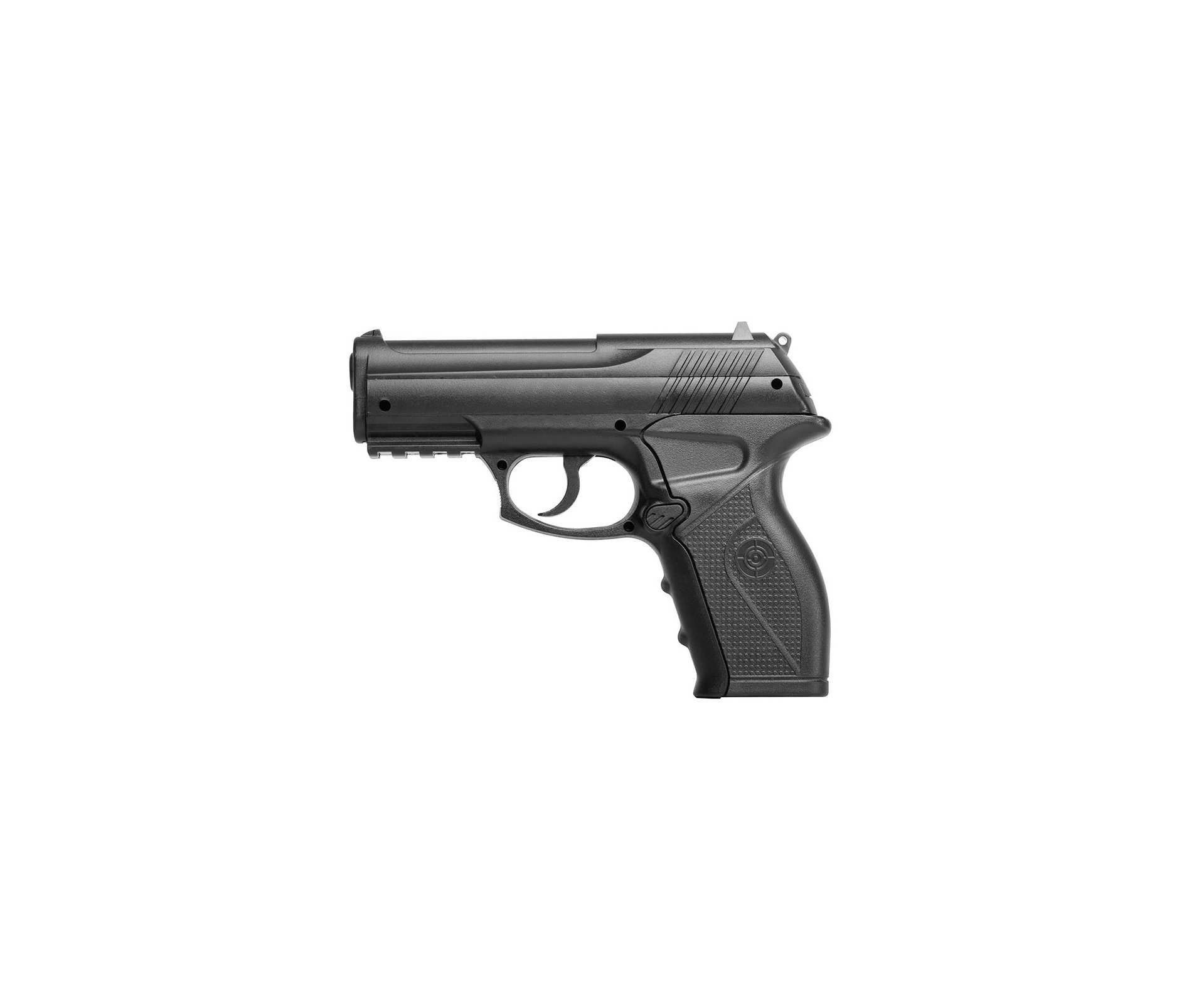 Pistola De Pressão Gas Co2 C11 Polímero Esferas Aço 4,5mm + Maleta + Esferas + Co2