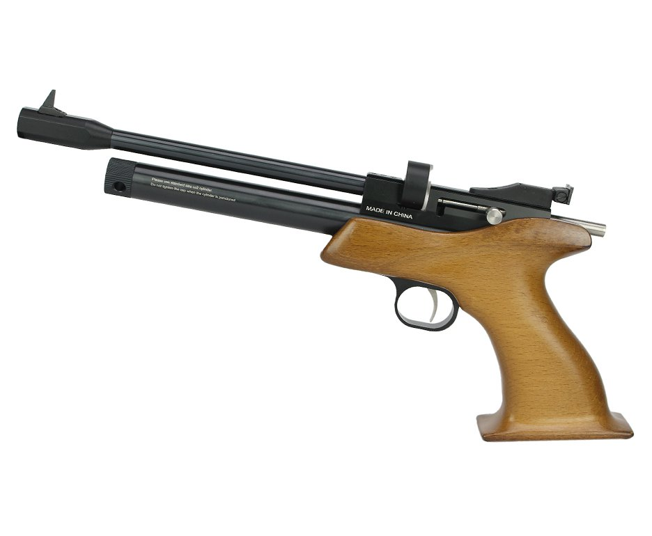 Pistola De Pressão Gas Co2 Cp1-m Competition Spa Madeira Multishot 7 Tiros 5,5mm