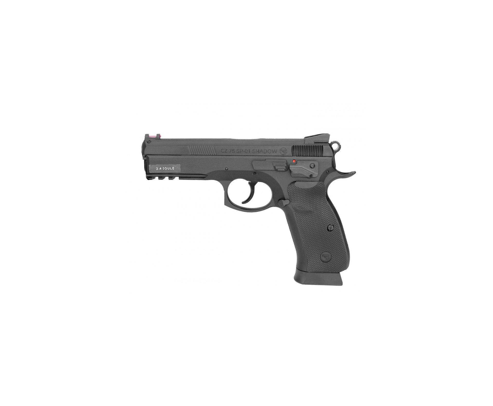 Pistola De Pressão Co2 Cz 75 Sp-01 Shadow 4,5mm 2,4j Asg