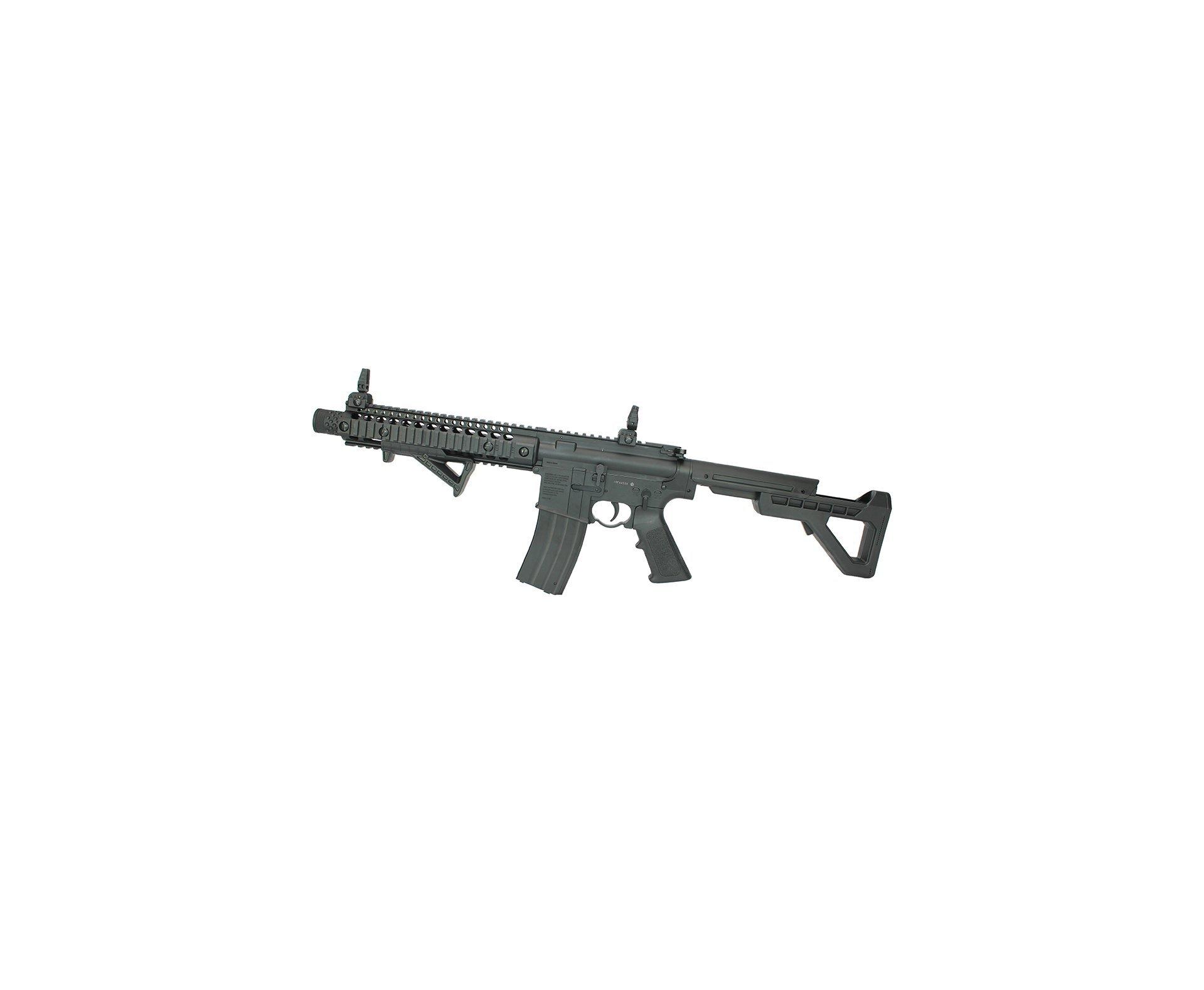 Rifle Pressão Co2 Dpms Sbr M4 Full Metal Blowback Automatico 4,5mm - Phanter Arms