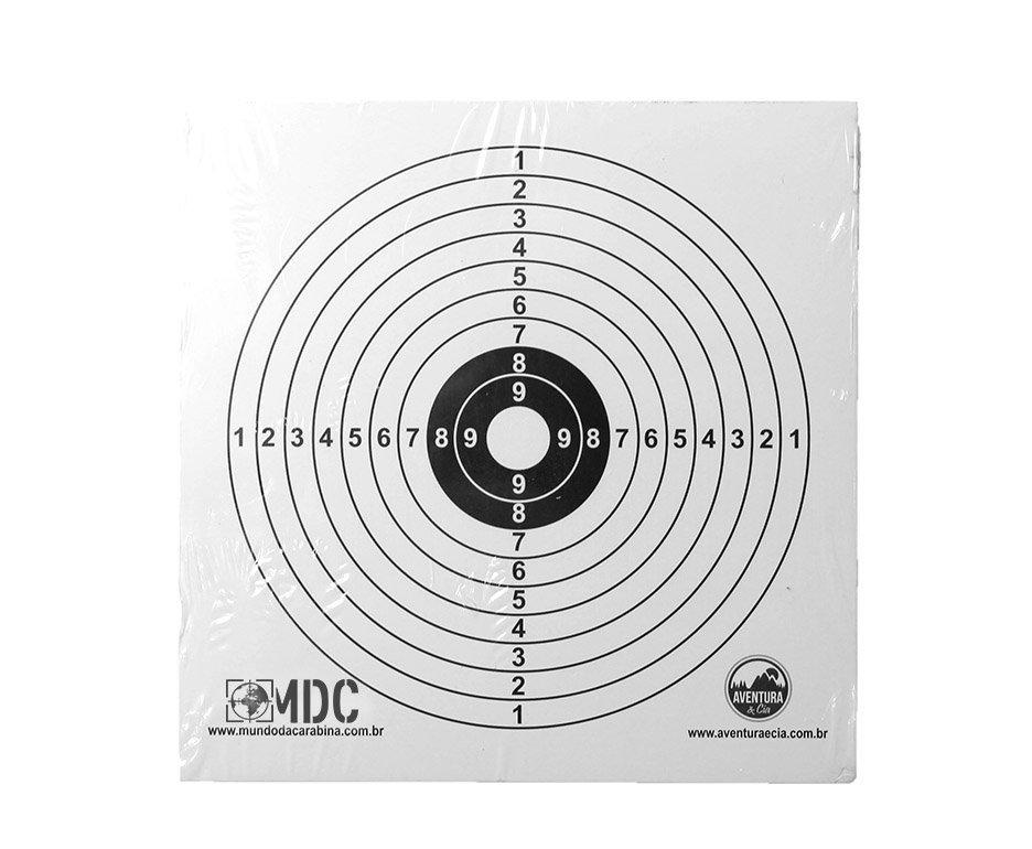 Alvos Papel Descartáveis Para Carabinas E Pistolas - 25 Unid