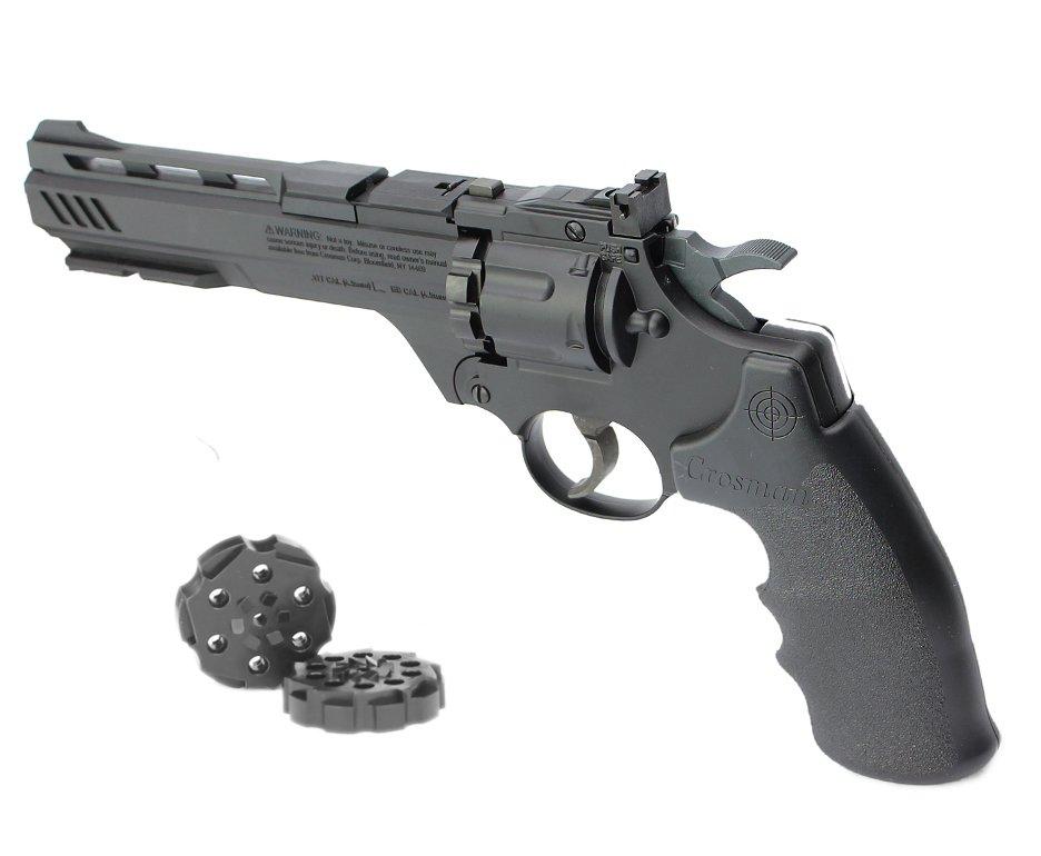 "Revólver De Pressão Co2 Crosman Vigilante 6"" Dual Ammo 4,5mm"