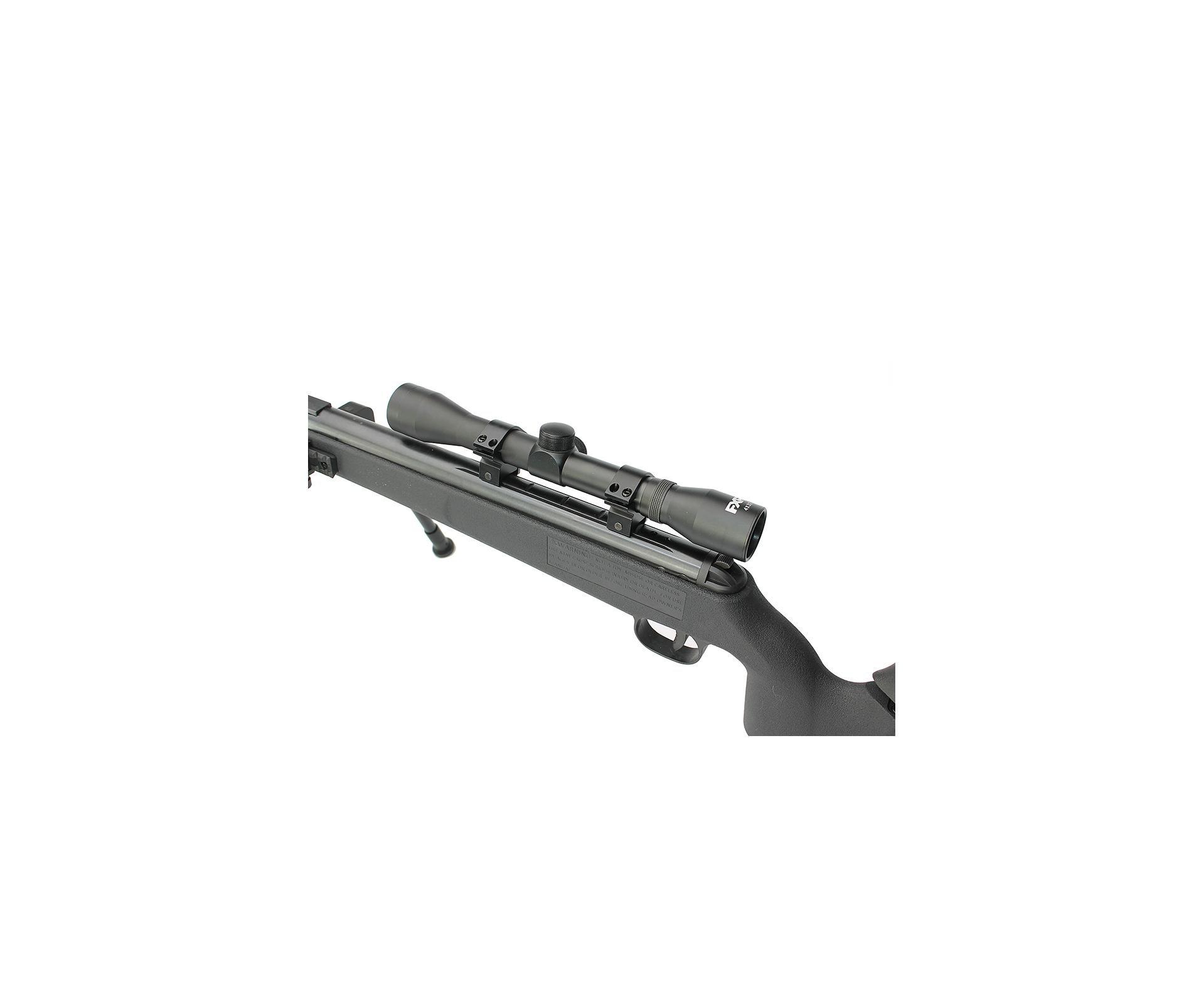 Carabina De Pressão Artemis Gp 1250 Sniper Gas Ram 70kg Black 5,5mm + Bipé + Luneta + Supressor