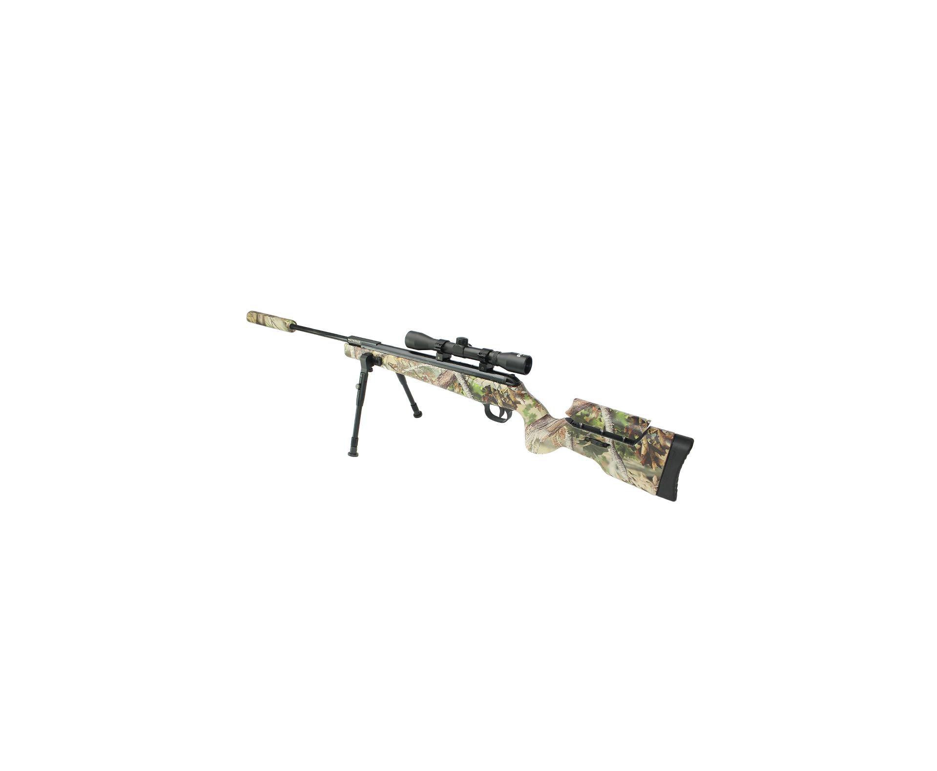 Carabina De Pressão Artemis Gp 1250 Sniper Gas Ram 70kg Camu 5,5mm + Bipé + Luneta + Supressor