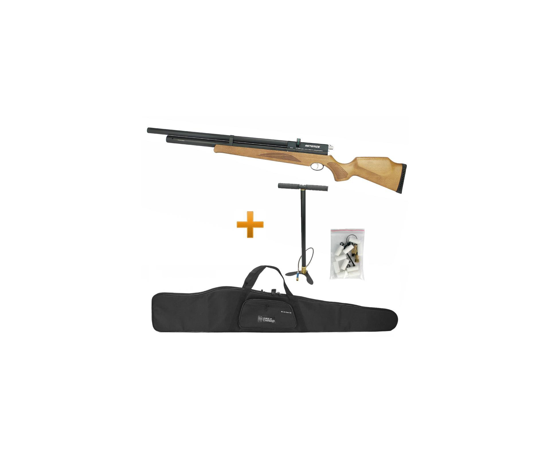 Carabina De Pressão Pcp Artemis M22 11 Tiros 5.5mm + Bomba + Capa