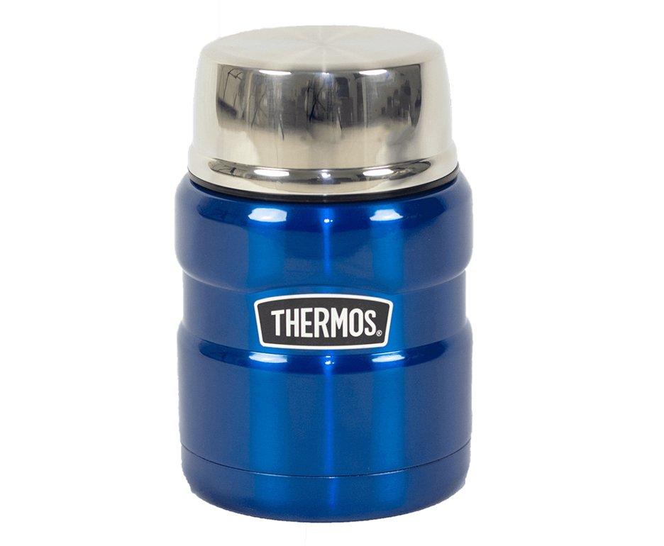 Pote Marmita Térmico Thermos Everest Com Colher Azul 470ml