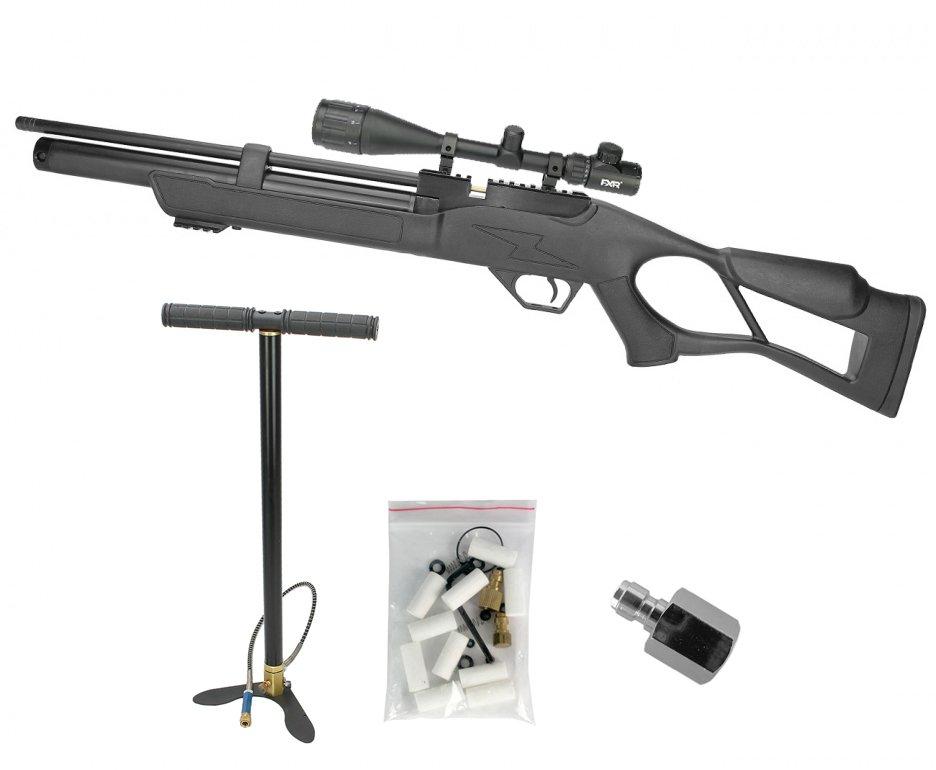 Carabina De Pressão Pcp Hatsan Flash 5,5mm + Luneta 4-16x50 Mount Elevado + Bomba Hand Pump