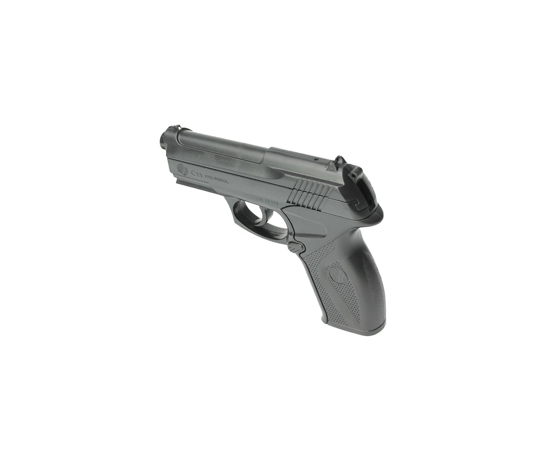 Pistola De Pressão Co2 C11 Esferas De Aço 6mm Wingun