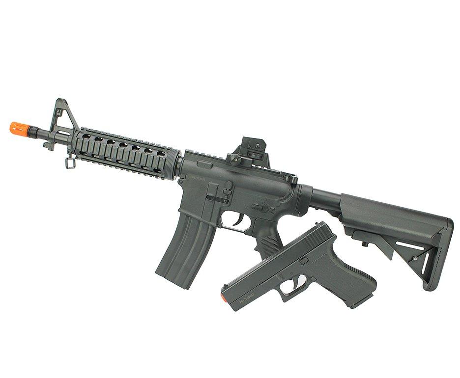 Kit Rifle M4 E Pistola V307 De Airsoft Vigor Vg Spring Rossi 6mm