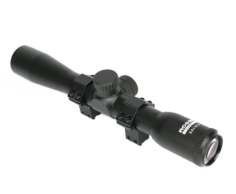 Luneta 5.9x35.9 (mount3/8p) Trilho 11mm Retículo 30/30 Rossi