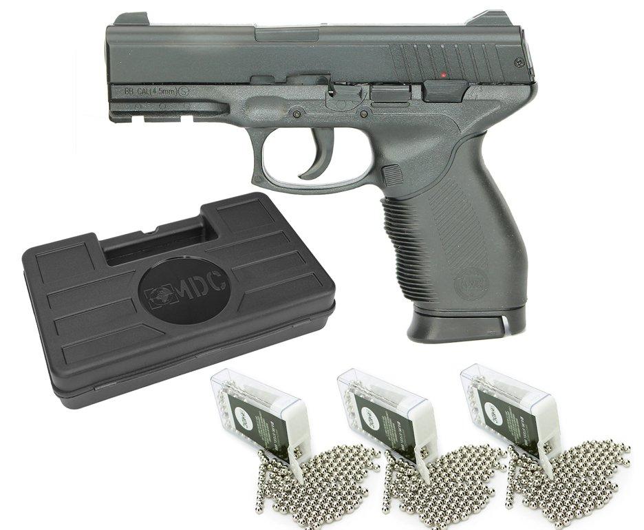 Pistola De Pressão 24/7 Spring Slide Metal 4,5mm - Kwc + Esferas Bbs + Case