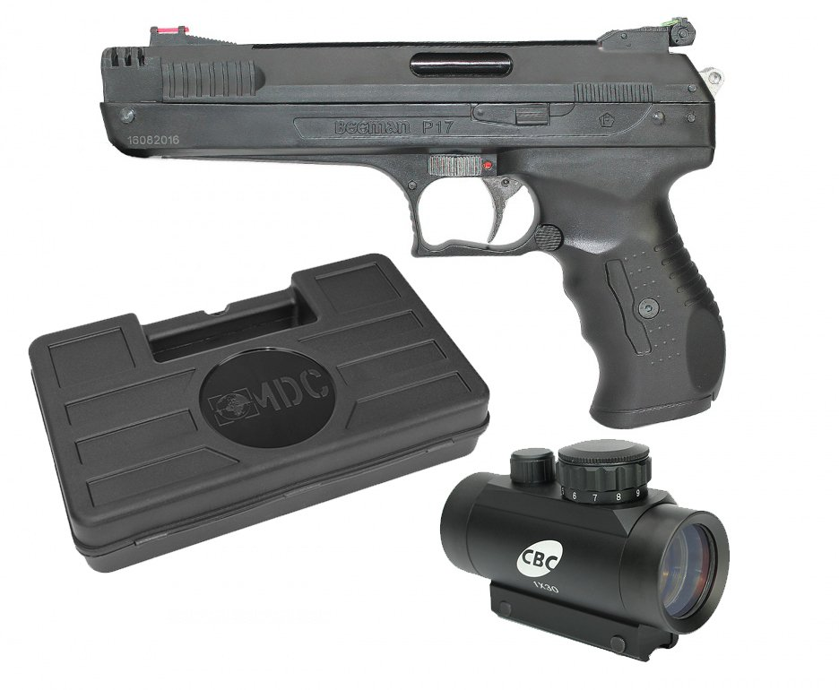 Pistola De Pressão Beeman 2004 P-17 Cal 5,5mm  + Red Dot 1x30 + Case - Rossi