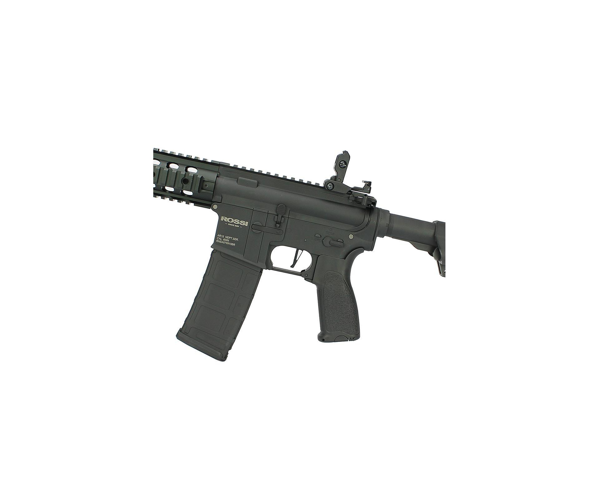 "Rifle De Airsoft Ar15 Neptune Full Metal Keymod 8"" Sd Et Elet 6mm Rossi"