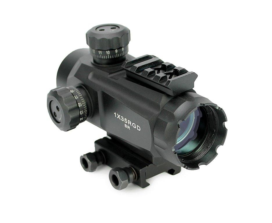 Red Dot Tatico 1x35 Rgd Para Armas De Fogo 20mm - Evo Arms