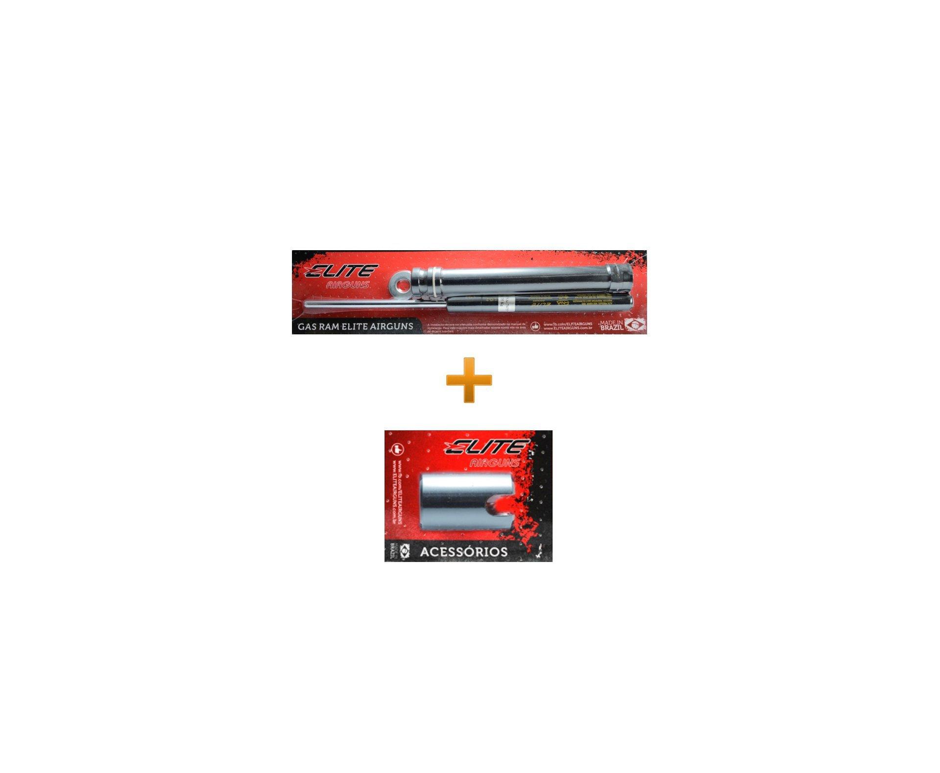 Kit B19 Com Pistão Pneumático 40 Kg + Bucha Pu Usinada + Centralizador Dianteiro E Traseiro - Elite Airguns