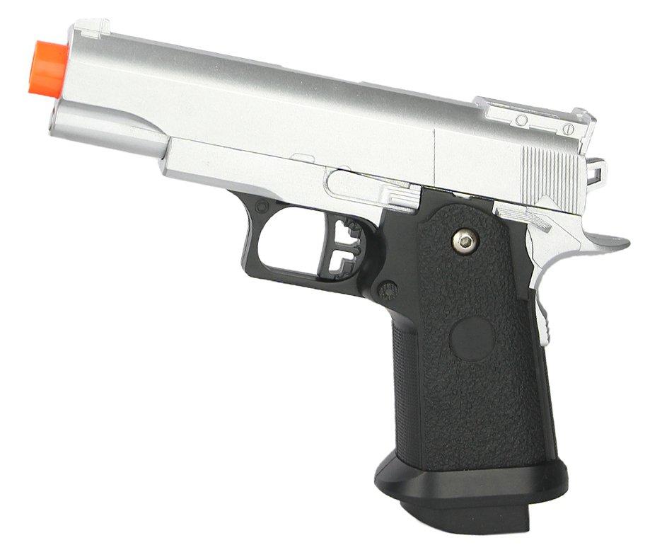 Pistola De Airsoft Galaxy G10 Silver 1911 Baby Spring Full Metal 6mm