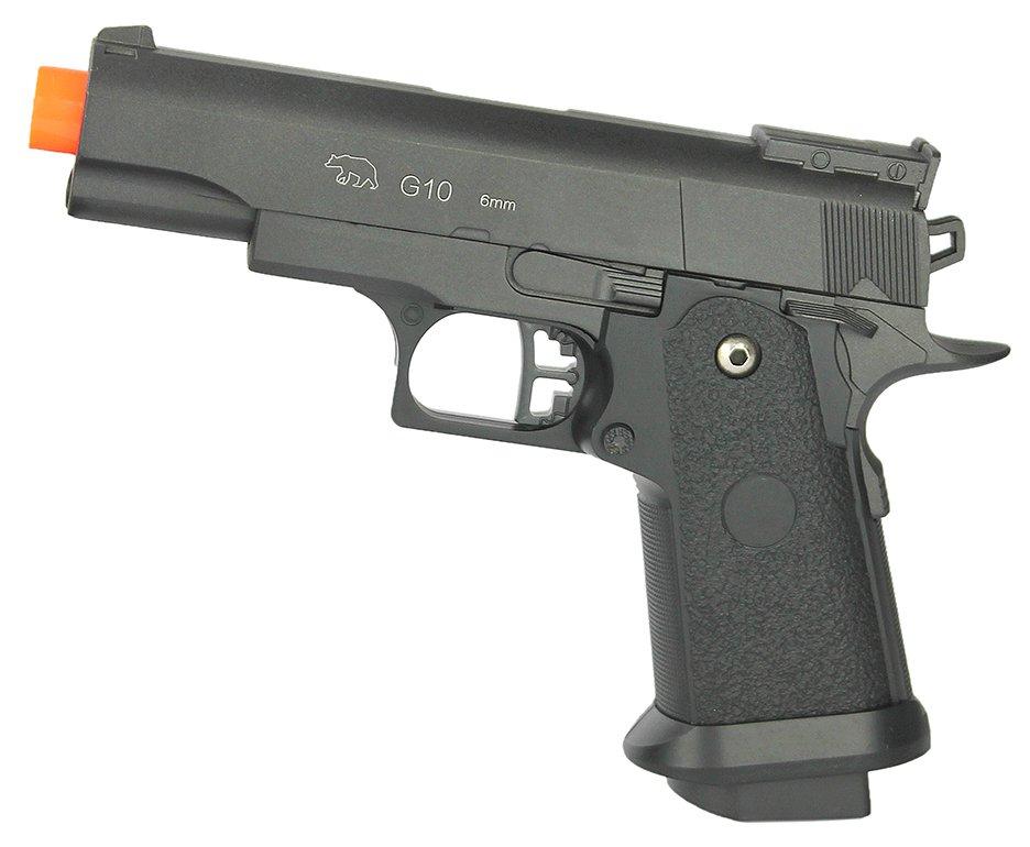 Pistola De Airsoft Galaxy G10 Black 1911 Baby Spring Full Metal 6mm