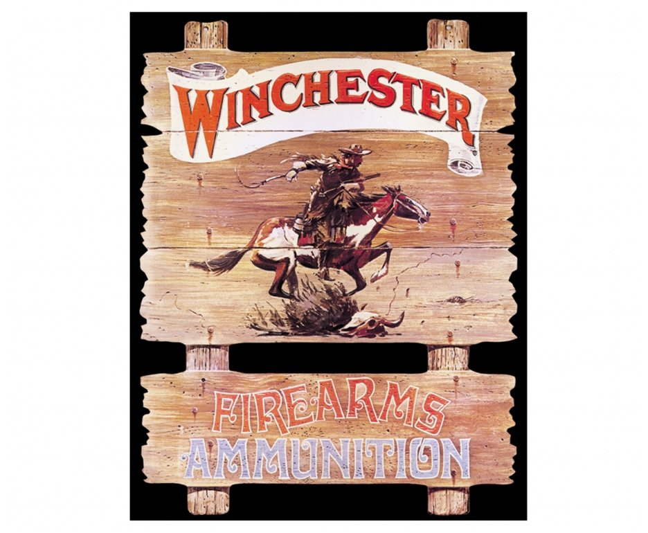 Placa Metálica Decorativa Winchester Firearms - Rossi