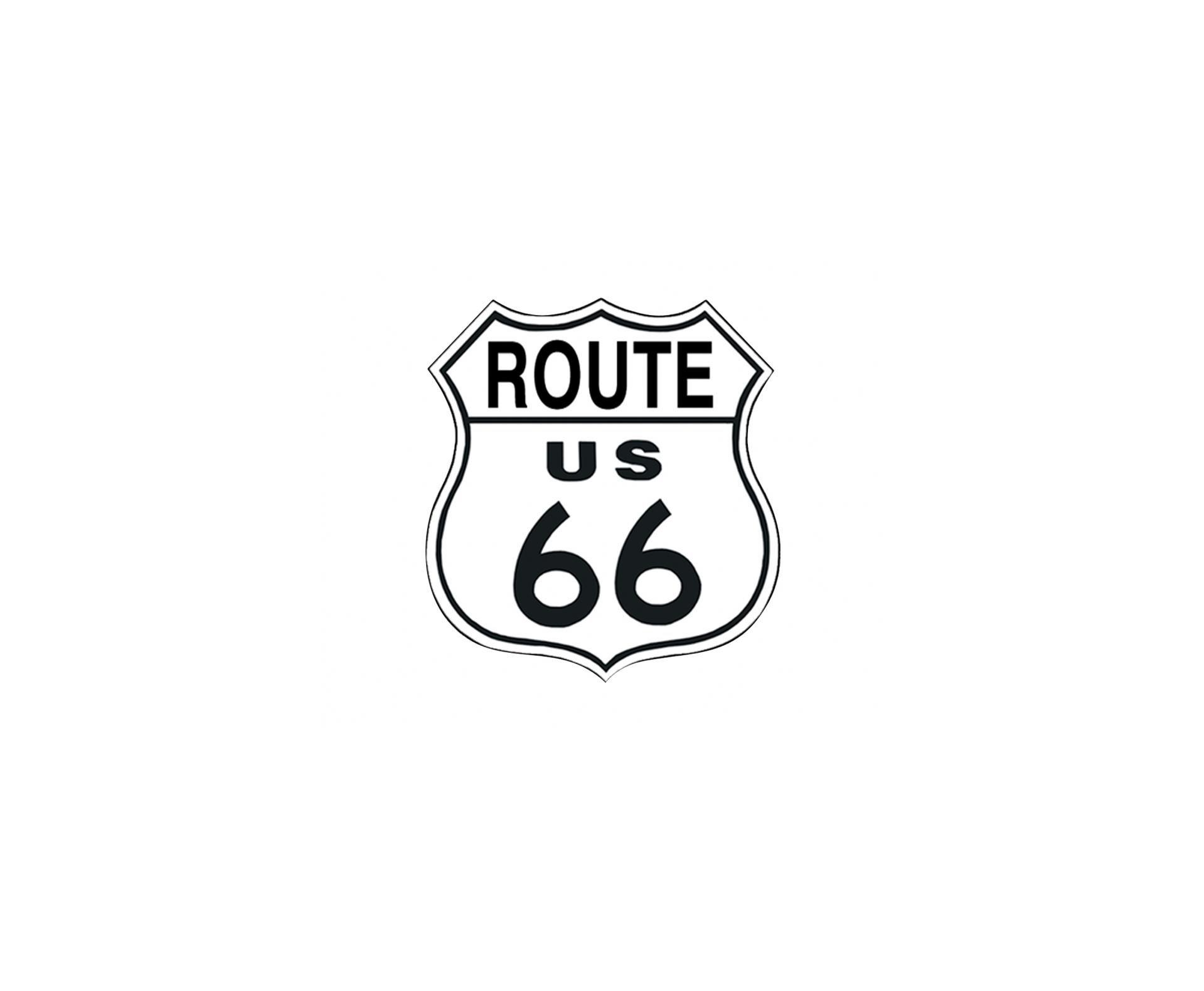 Placa Metálica Decorativa Us Route 66 - Rossi
