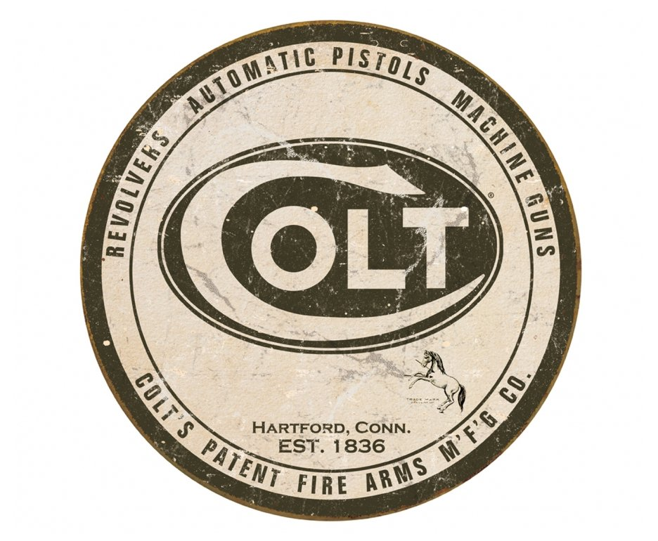 Placa Metálica Decorativa Colt Logo - Rossi