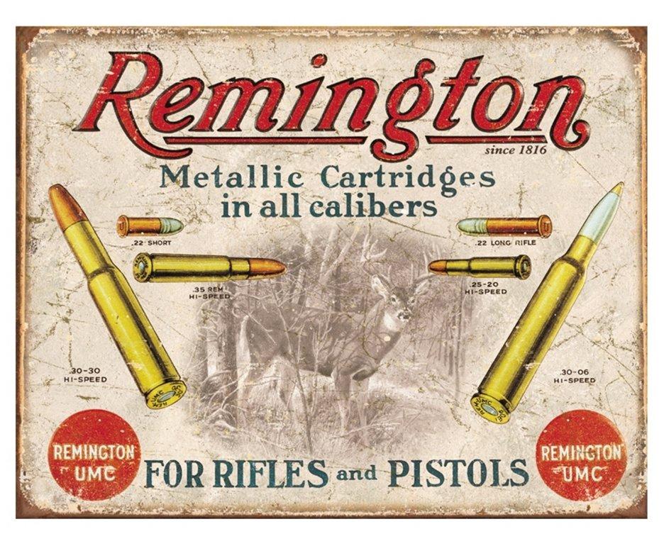 Placa Metálica Decorativa Remington Bullets - Rossi