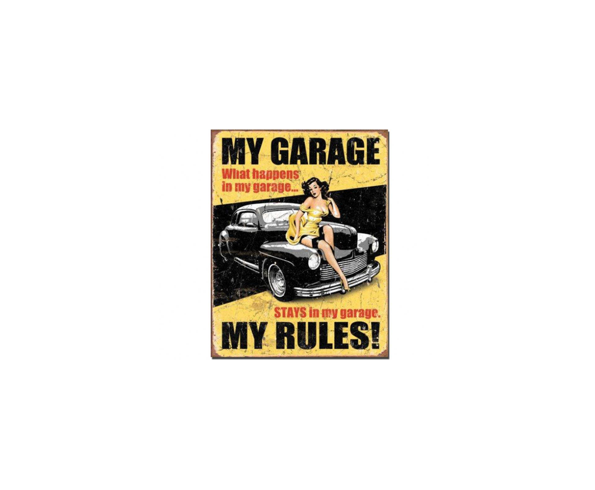 Placa Metálica Decorativa Legends My Garage - Rossi