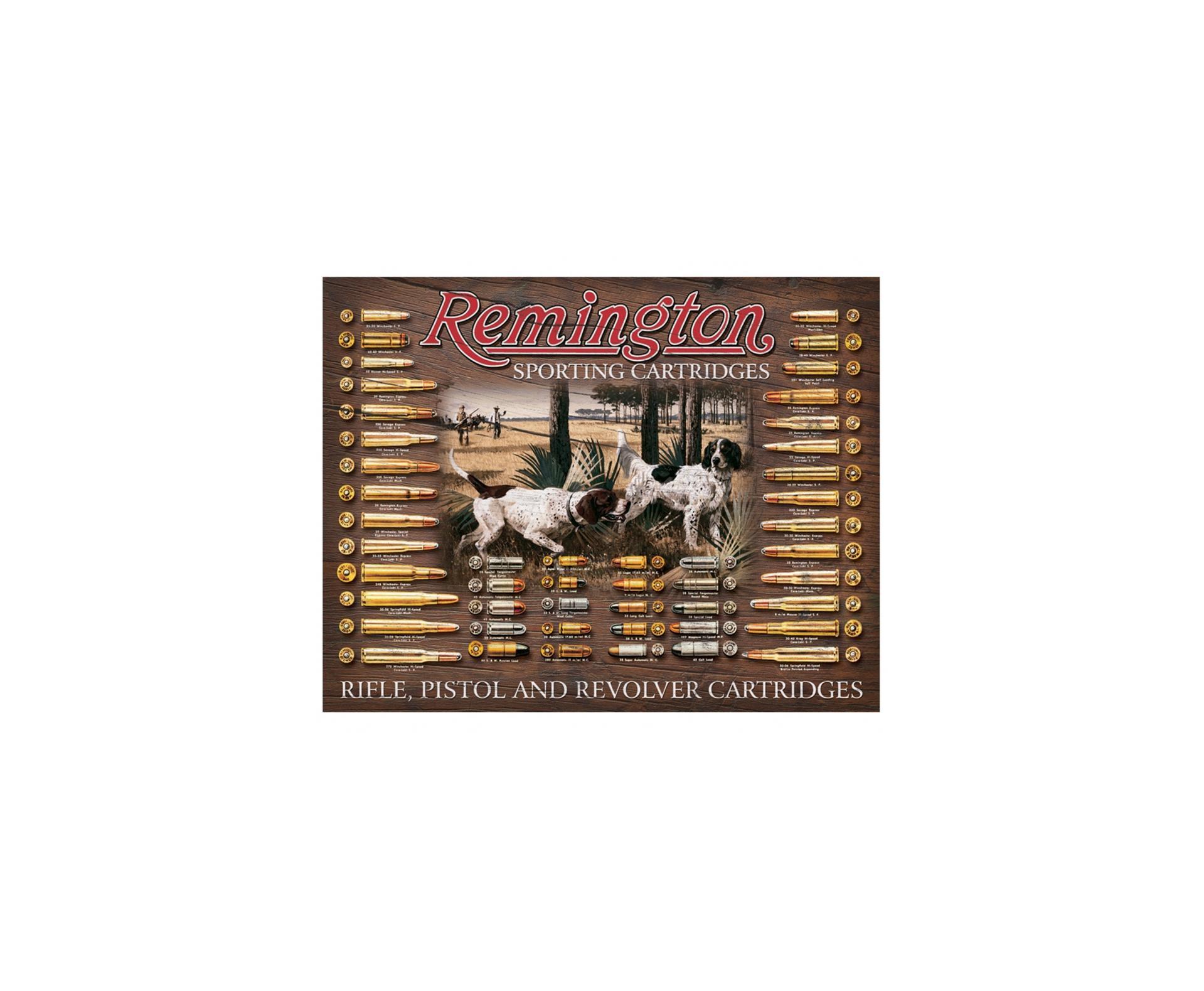 Placa Metálica Decorativa Remington Sporting -rossi