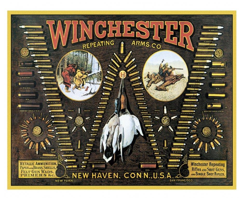 Placa Metálica Decorativa Winchester Bullet - Rossi