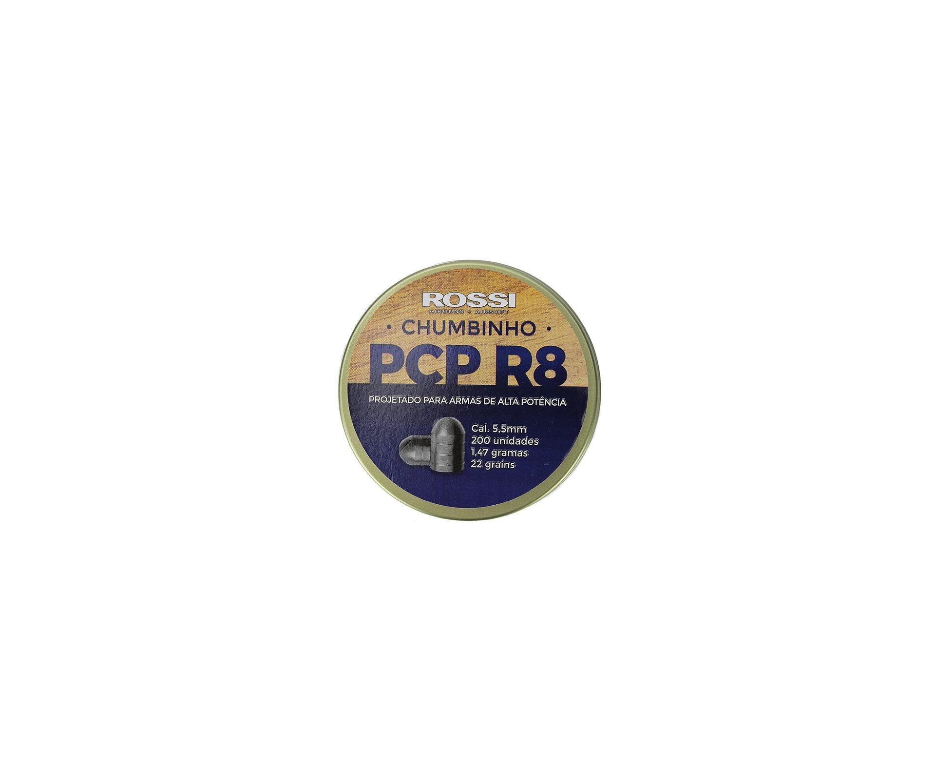 Chumbinho Rossi Pcp R8 5,5mm Para Destruição E Parada - 200un