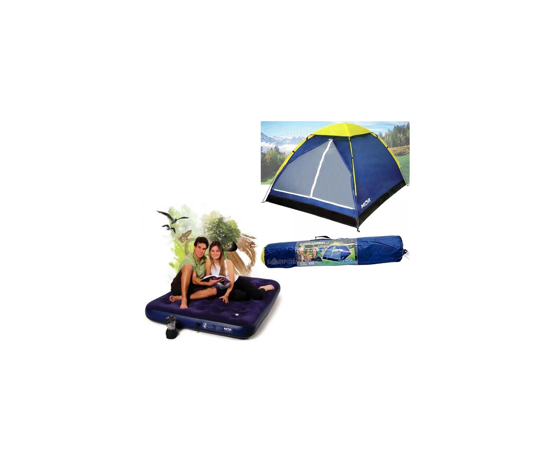 Barraca Camping Iglu 3 Pessoas - Mor + 01 Colchão Casal