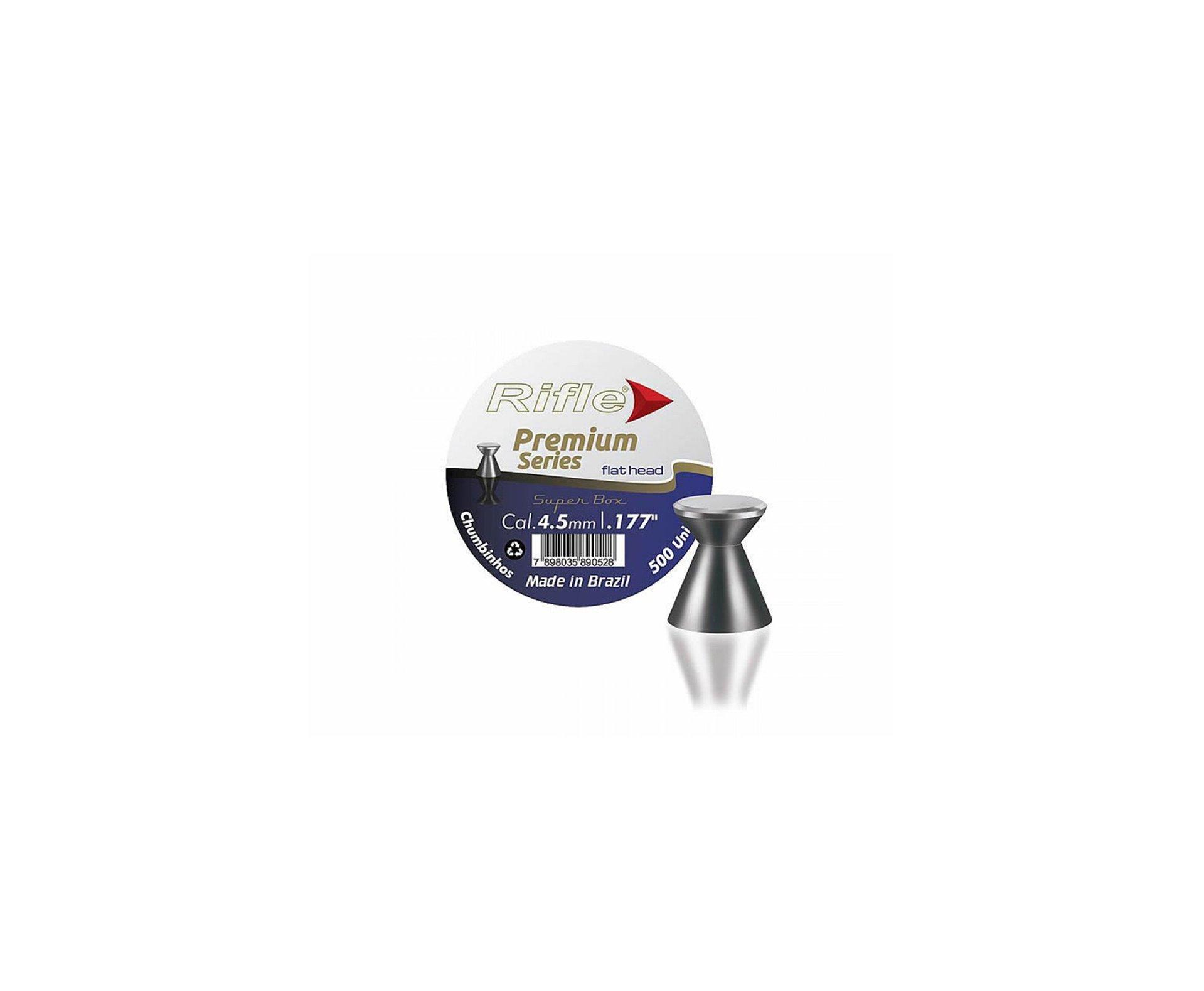 Chumbinho Competição Flat Head Light Premium 4,5mm Com 500und