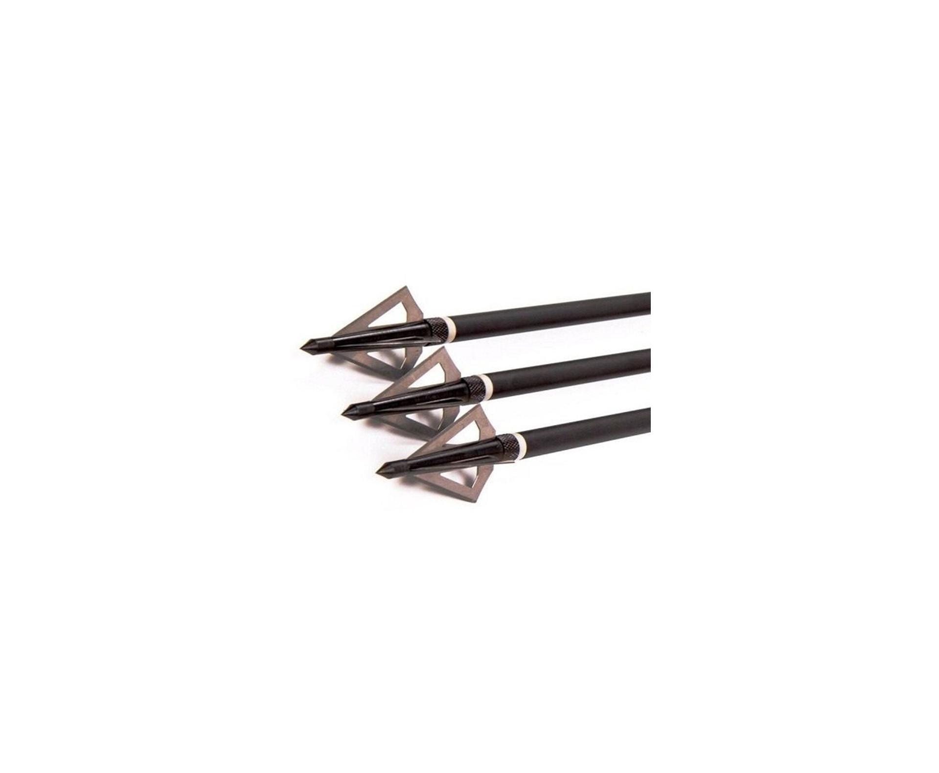 Ponteira De Caça Rosqueável - Metal 3 Lâminas - Cartela Com 3 Unidades