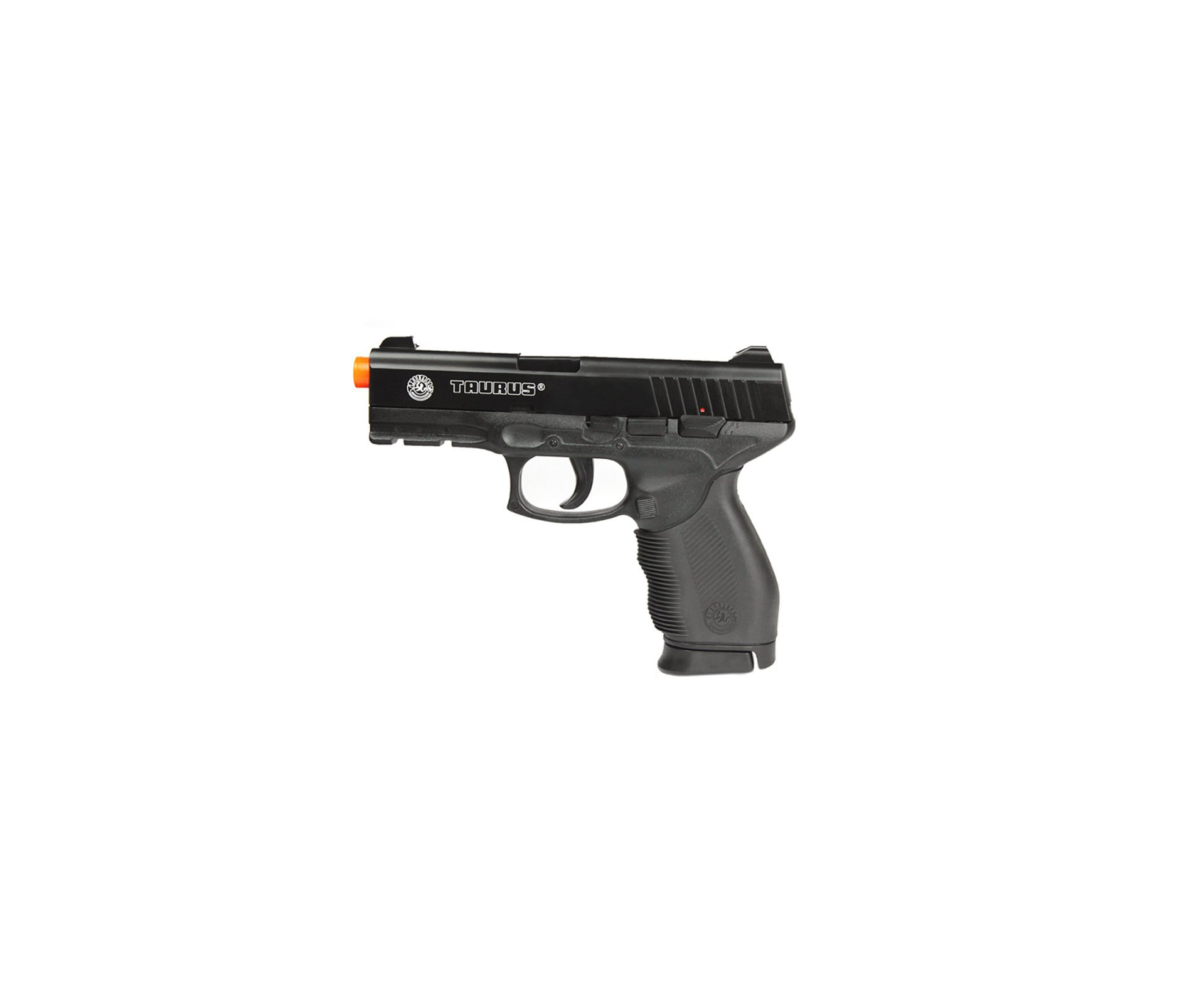 Pistola De Airsoft Taurus Pt 24/7 Semi/metal Cal 6,0 Mm + 4000 Esferas 0,12g + Case + Coldre Cintura - Cyber Gun