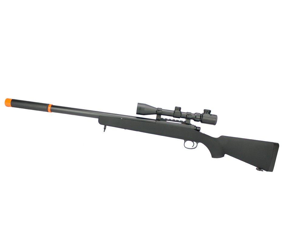 Rifle De Airsoft Sniper Bar-10 Vsr10 Cal 6mm Com Luneta 3-9x40 Jing Gong