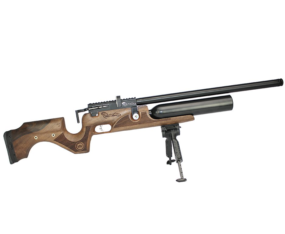 Carabina De Pressão Kral Arms Pcp Puncher Bighorn Madeira 07 Tiros 9mm