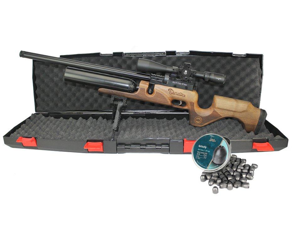 Carabina De Pressão Pcp Puncher Bighorn 07 Tiros 9mm Kral Arms + Luneta 6-24x44sf Evo