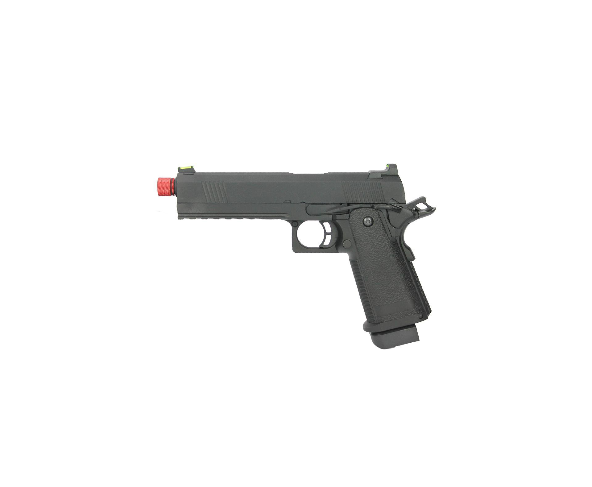 Pistola De Airsoft Gbb 1911 Black Devil 5.1 Blowback Neptune Rossi 6mm