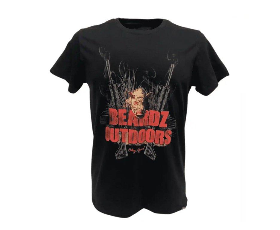 Camiseta Beardz Masculina Javali Hog Hunters Ts32