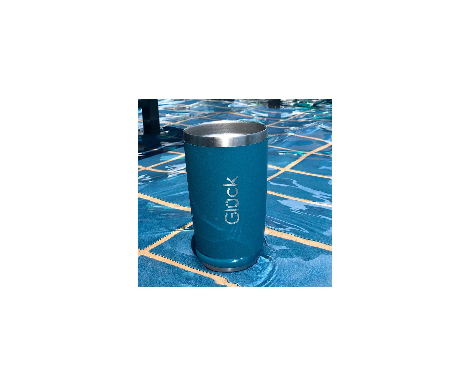 Copo Térmico Para Cerveja Lucky 591ml Inox Porsche Blue - Gluck