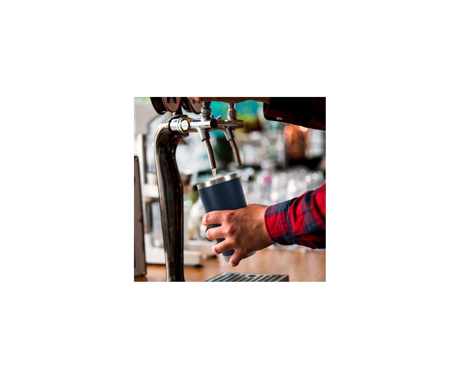Copo Térmico Para Cerveja Lucky 591ml Inox Mint - Gluck