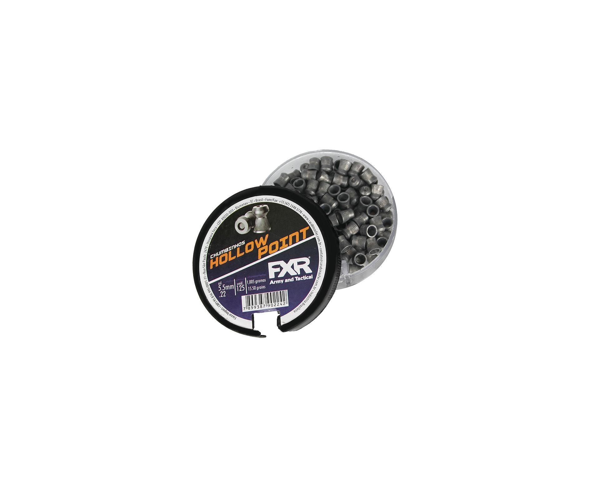 Chumbinho Para Carabina Pressão Hollow Point 5.5mm 125un - Fxr