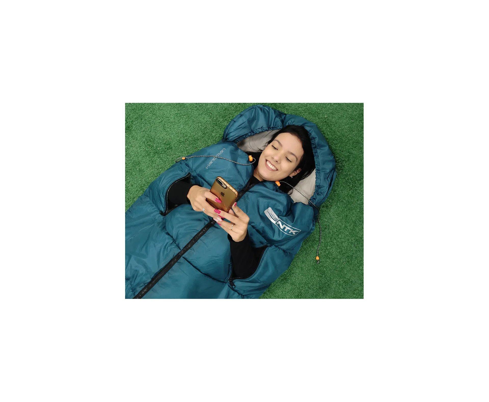 Saco De Dormir Nautika Handman Verde 10°c A 20°c