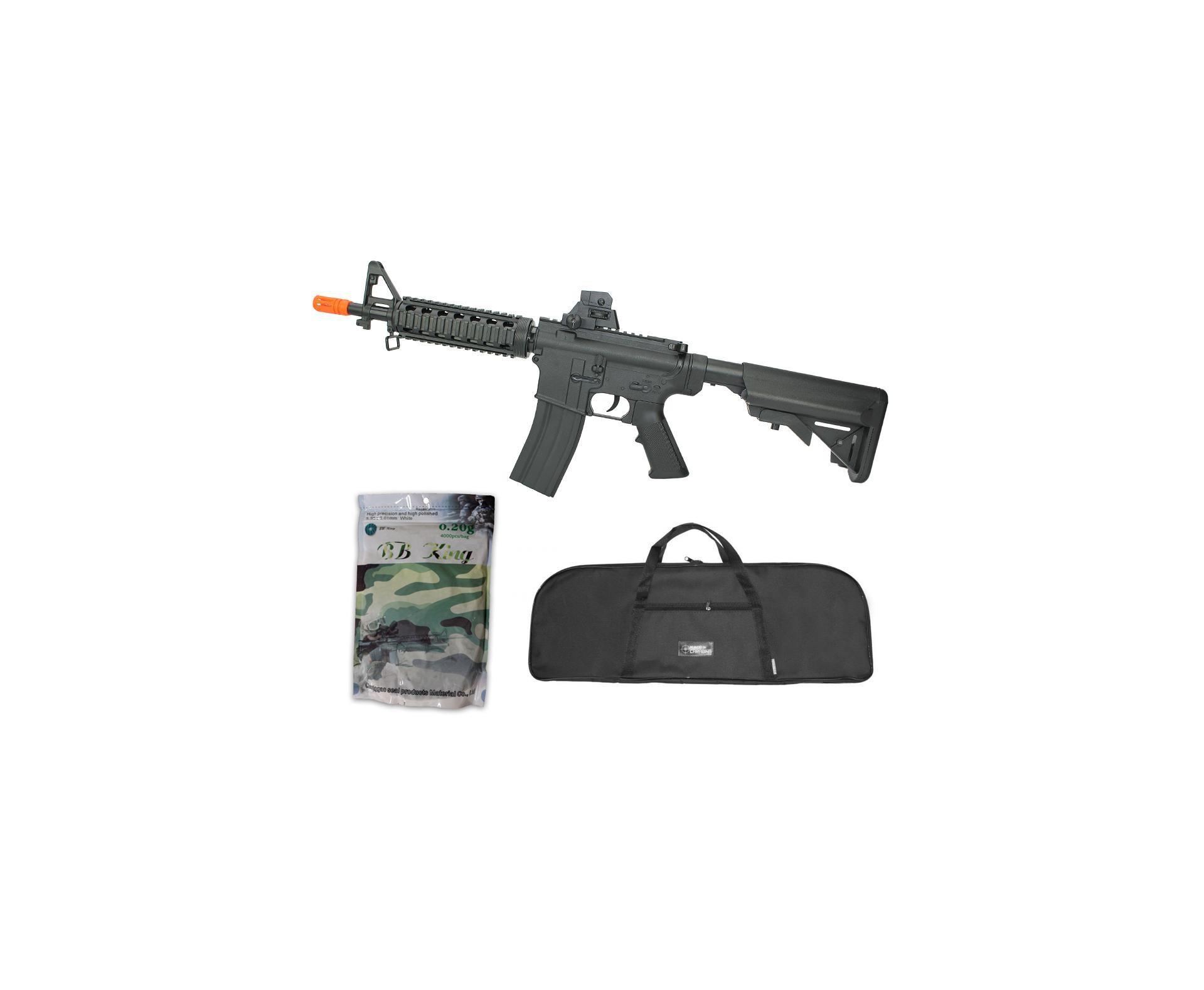 Rifle De Airsoft Vg M4ris-cqb 8907 Spring 6mm + Capa Simples + Esfera Plastica 0,20g 4000uni