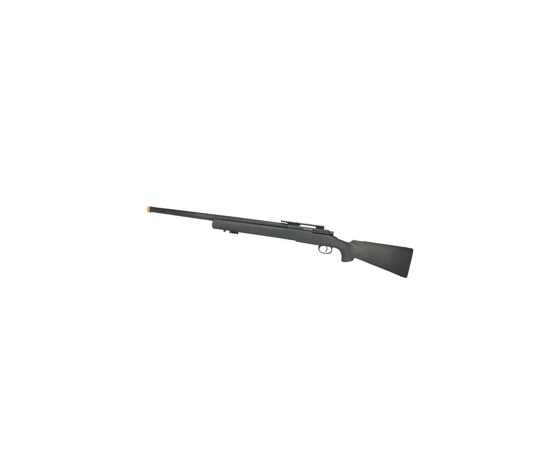 Rifle De Airsoft Sniper M24 Storm Full Metal Vsr10 Spring 6mm - Rossi + 4000 Bbs Raptor Sniper 0,30g