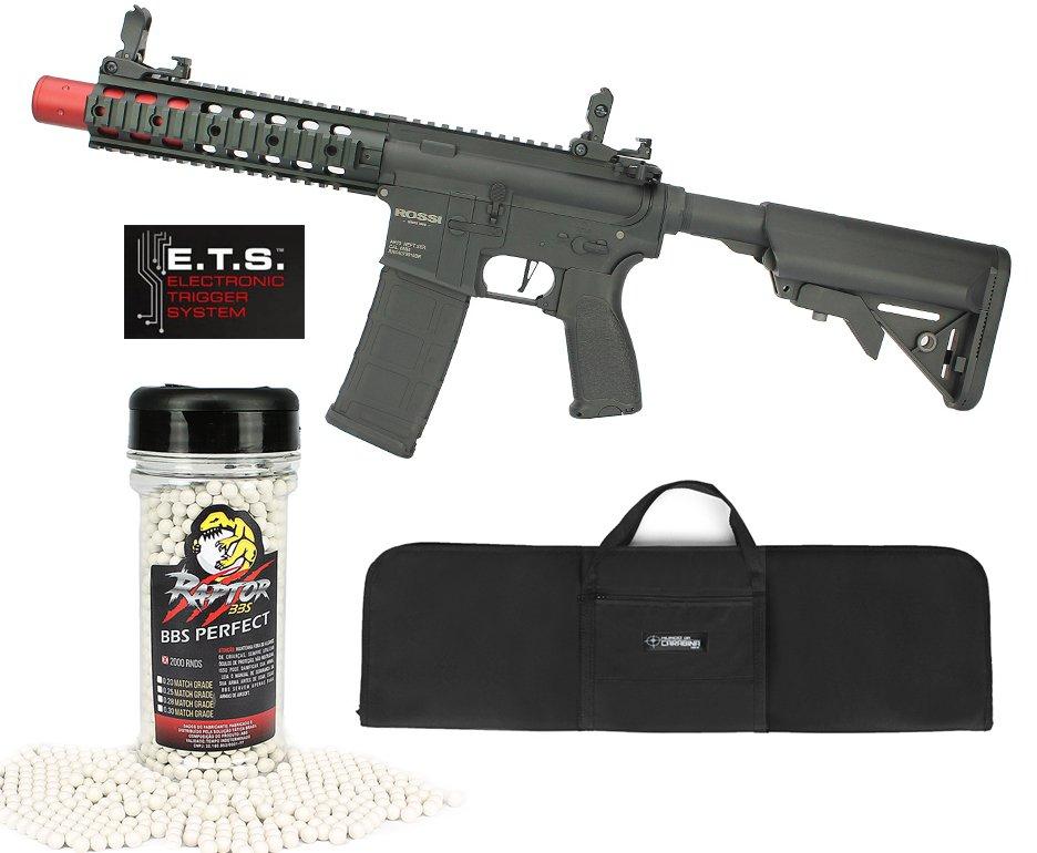 "Rifle De Airsoft Ar15 Neptune Full Metal Keymod 8"" Sd Et Elet 6mm Rossi + Capa Case Mdc + Bbs Raptor 0,28g 2000uni"